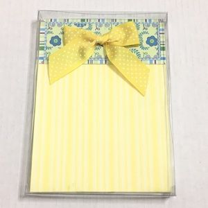 ✨NEW✨Blue/Yellow/Purple Notepad with Ribbon Bow